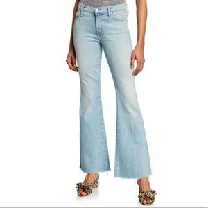 Mother The Weekender Fray Flare Light Jeans - 27
